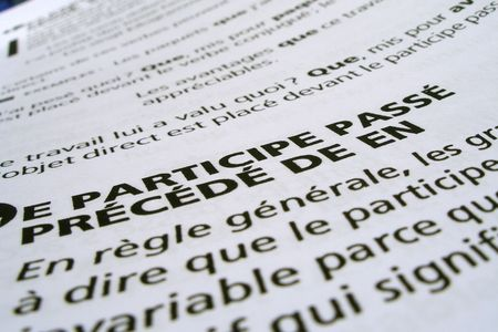 bloc: french notes Stock Photo