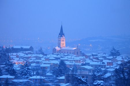 pierre b�nite in france uneder the snow Stock Photo - 312952