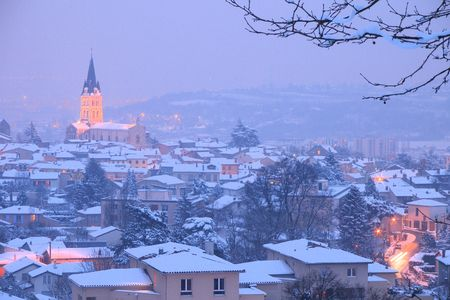 nite: pierre b�nite in france uneder the snow Stock Photo