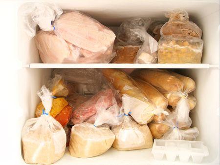 comida congelada: congelador