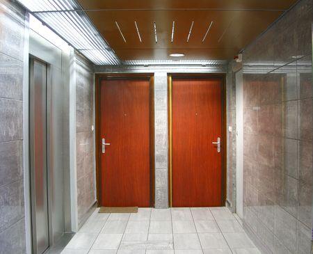 dwelling: dwelling entrance Stock Photo
