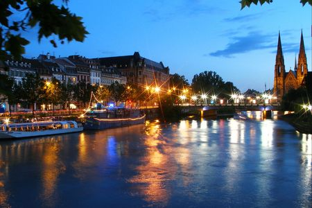 the quay: quay of strasbourg in france