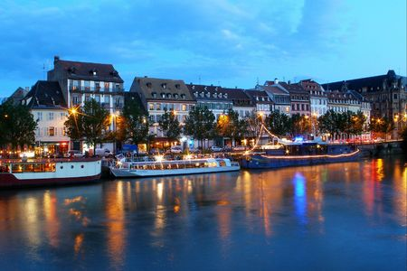 housing styles: quay of strasbourg in france