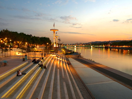 the quay: quay of lyon in france