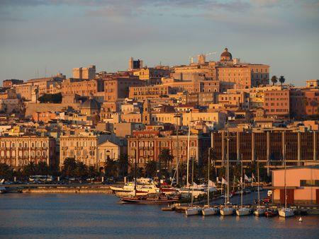 agglomeration: City of cagliary  , in sardinia , italy