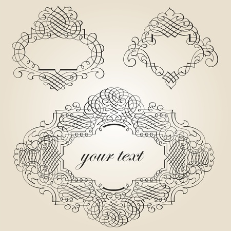 calligraphic design elements and page decoration Stock Vector - 12744675