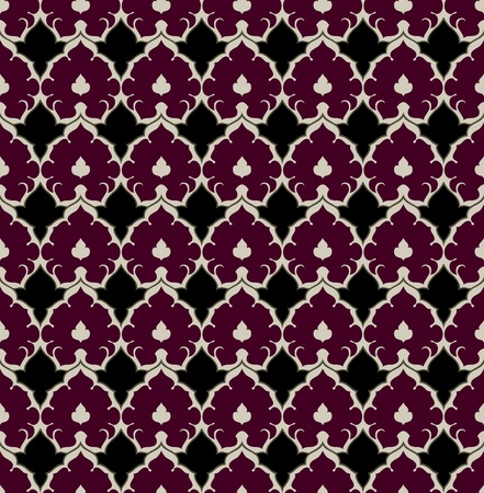 seamless background with colorful flower motif pattern
