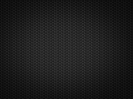Black honeycomb metal background, high resolution metal mesh grill Stock Photo