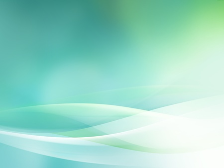 green smooth abstract background with shining light Stock Photo