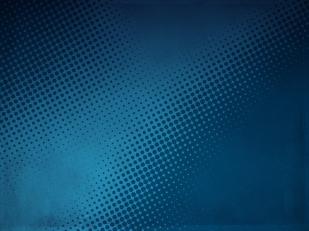 Grunge abstract halftone background made of a light and dark blue dotted pattern  Stock Photo