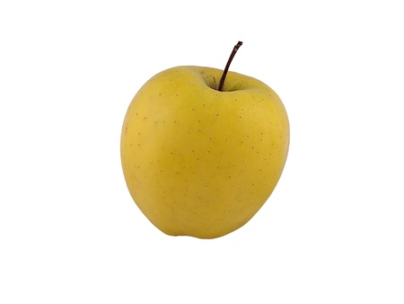 yellow apple isolated on white background with cutout