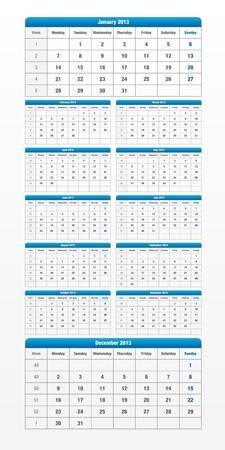 Carefully designed calendar for 2013 Vector