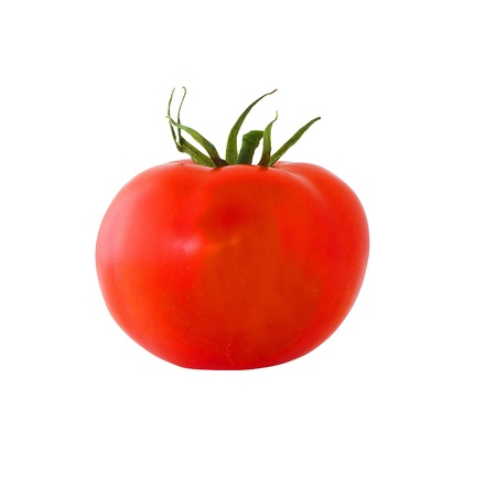 tomato slice: red tomato isolated on white background