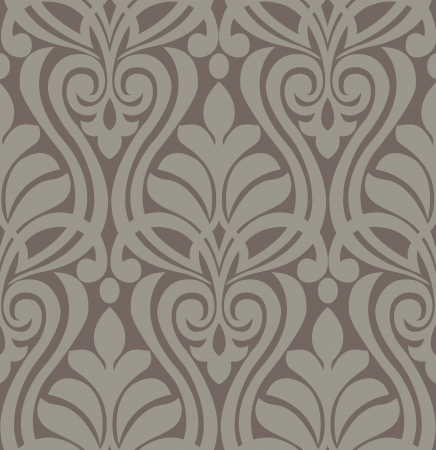 Damask vintage floral background pattern, Vector