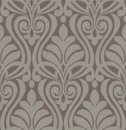seamless damask: Del modelo del damasco floral vintage background, Vectores