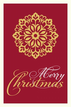 elegant red and gold christmas card Illustration