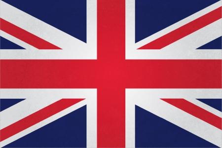 bandera inglesa: grunge estilo vintage Bandera del Reino Unido totalmente Vectores