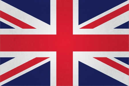 english flag: grunge vintage style uk flag fully