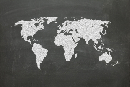 world map on chalk board, world map from www.lib.utexas.edu photo
