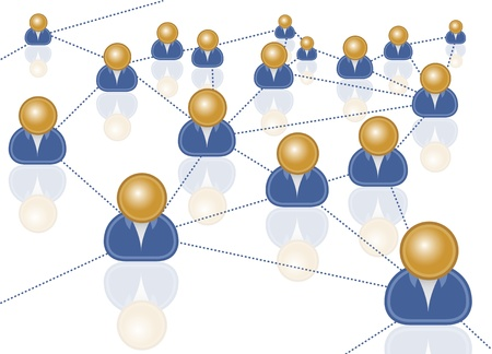 business network social connection throught internet Stock Photo - 17714651