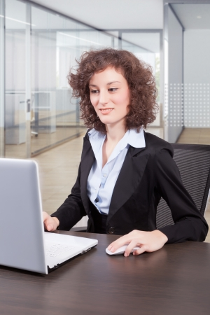 businesswoman secretary at working in office