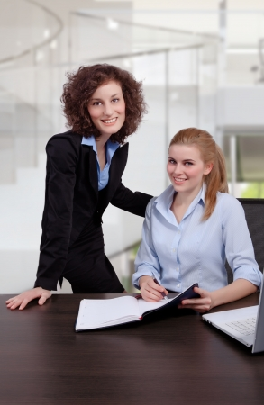 two business woman have a meeting in office Stock Photo
