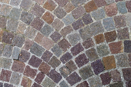 Typical italian cobblestone used to pave sidewalks or roads. photo