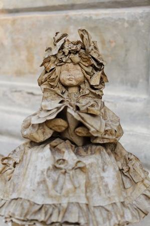 papier mache: Doll Papier Mach� t�pica de Apulia, Italia Foto de archivo