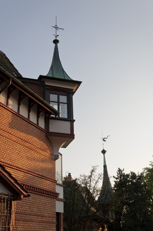 Typical turrets that decorate many old suisse buildings