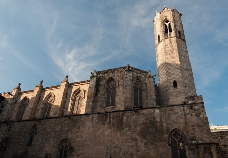 gotico: Iglesia en la Pla�a del Rei - Barrio G�tico, Barcelona, ??Espa�a