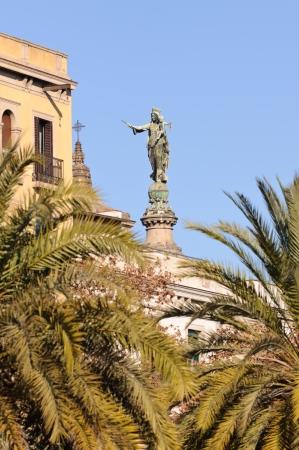 Virgin Mary  La Merc&Atilde,&copy,  Statue  Barcelona, Spain  photo