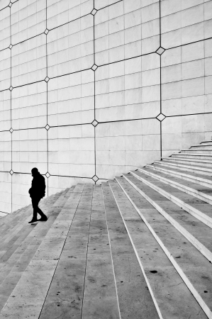 Grande arche stairs - La Defense, Paris  France