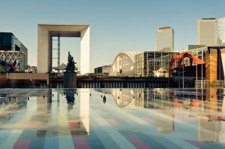 la: La Defense, commercial and business center of Paris, France  Editorial