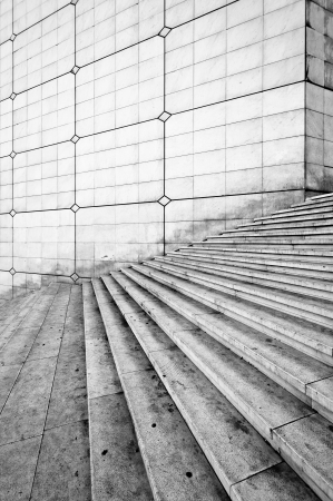 Grande arche stairs - La Defense, Paris  France  photo