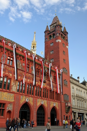 Basel Town Hall  Rathaus , Switzerland