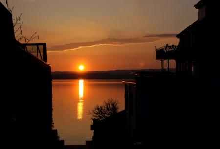 Sunset on the Zug lake, Switzerland