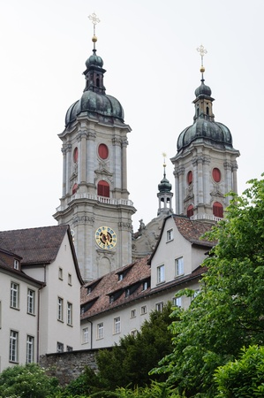 st gallen: St  Gallen abbey towers, Switzerland  Stock Photo