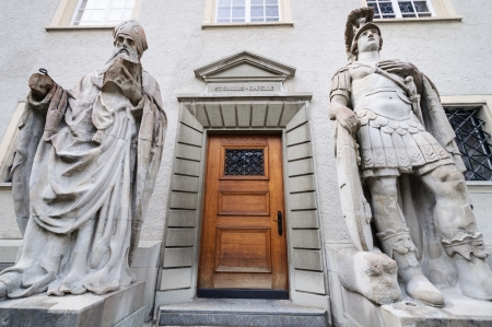 st  gallen: Entrada a la capilla de St Gallen Suiza
