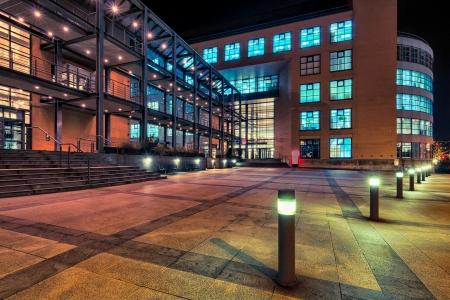 Modern architecture in Zurich at night  HDR version