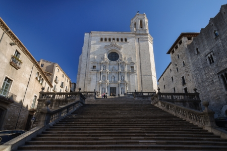 The Cathedral of Girona, Catalonia, Spain  Standard-Bild