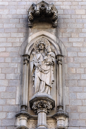 Statue of the mother of God and the Infant Jesus