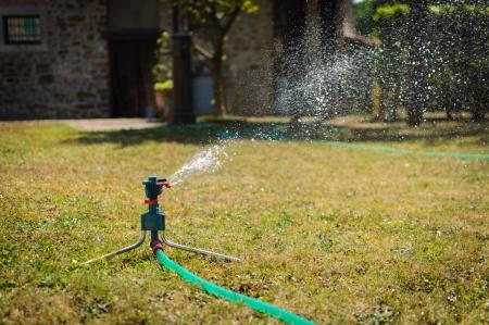 Garden irrigation     system Standard-Bild