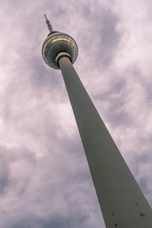 TV Tower  Fernsehturm  in Alexander Platz  Berlin, Germany