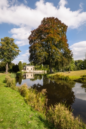 Sanssouci Park pond  Potsdam, Germany
