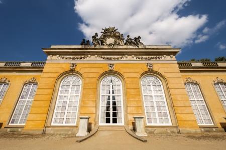 Sanssouci Park palace facade  Potsdam, Germany