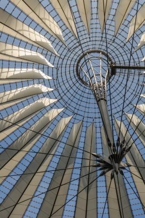 Potsdamer platz, roof dome of Sony Center on September 17, 2012 in Berlin