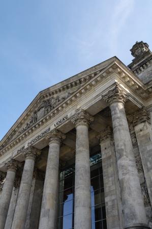 Reichstag detail in Berlin, Germany