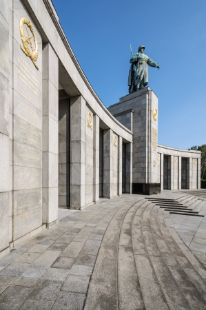 The Sowjetische Ehrenmal  Soviet Memorial  located in the Tiergarten was built in 1945 to honor the fallen Red Army soldiers during the Second World War at Berlin, Germany