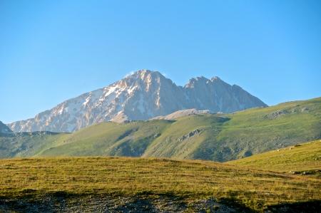Corno Grande and Corno Piccolo peak, Abruzzo, Italy Standard-Bild