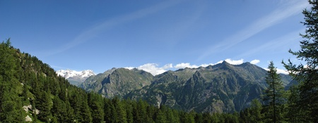 Panoramic view of Alps